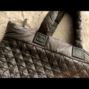 Chanel coco cocoon bag puffer grey Authentic